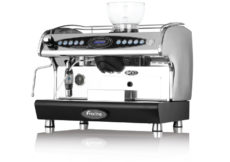 Electronically controlled.  Four accurately pre-programmed coffee measures.