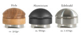 The Mahlgut Dozer perfectly matches the Mahlgut Tamper Buzzer, it, too, is available in 3 different designs. For the lightest version, the handle and the filter holder are made of wood, more precisely, the wood comes from German oak processed in the Sauerland. We offer the wood edition in oiled or stained variations. The Dozer made of aluminum is a bit heavier; in return, it comes in different colors. Those who really want something in their hand should reach for the stainless steel version of the Dozer. At almost 1.100gr., this is the heaviest version of our Dozer. The tamper base itself is always made of stainless steel for all 3 versions.